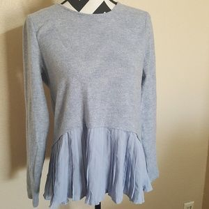 LC Conrad Peplum Blue/Grey Sweater Top